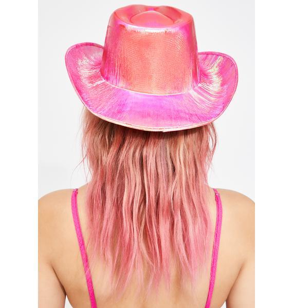 Metallic Fuschia Cowboy Hat