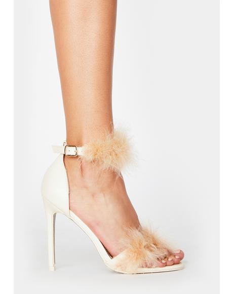 Bubbly Grrl Next Door Marabou Heels