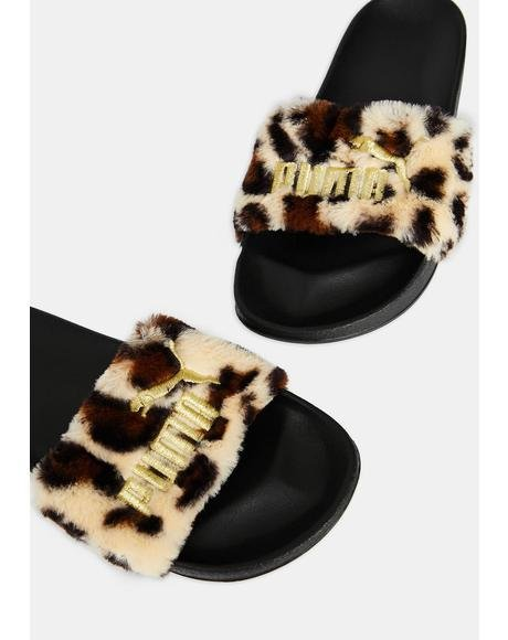 Leadcat Leopard Slides