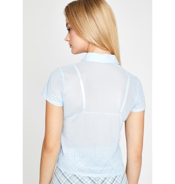 Sugar Thrillz Sporadically Sheer Blouse