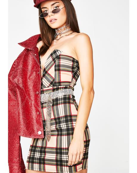 Spoil My Night Plaid Dress