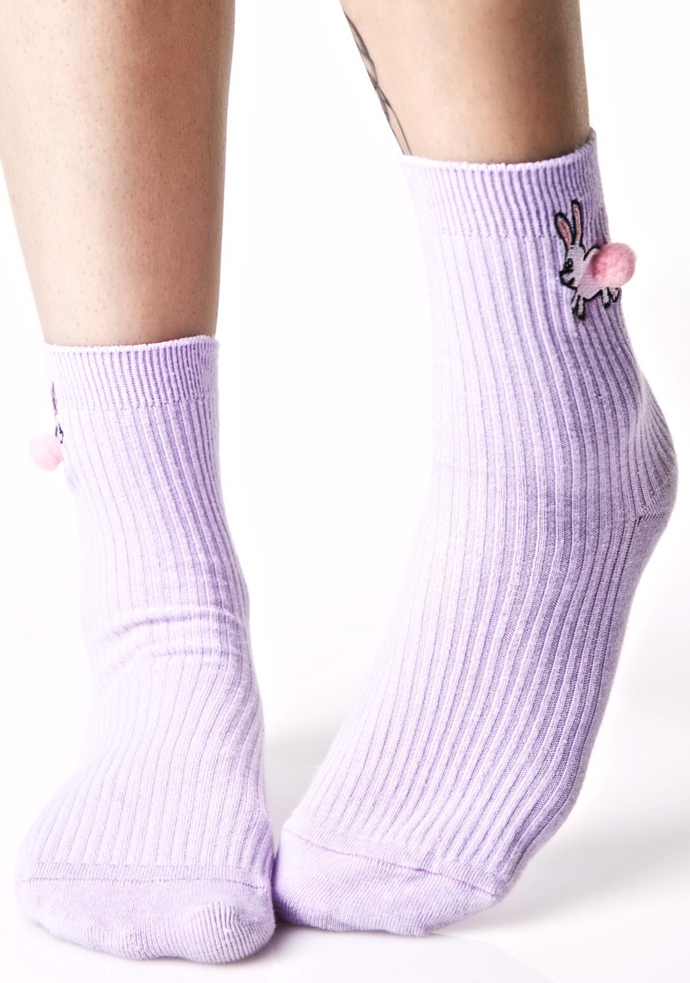 Lazy Oaf Pom Bunny Socks