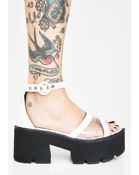 Pure Starlight Platform Sandals