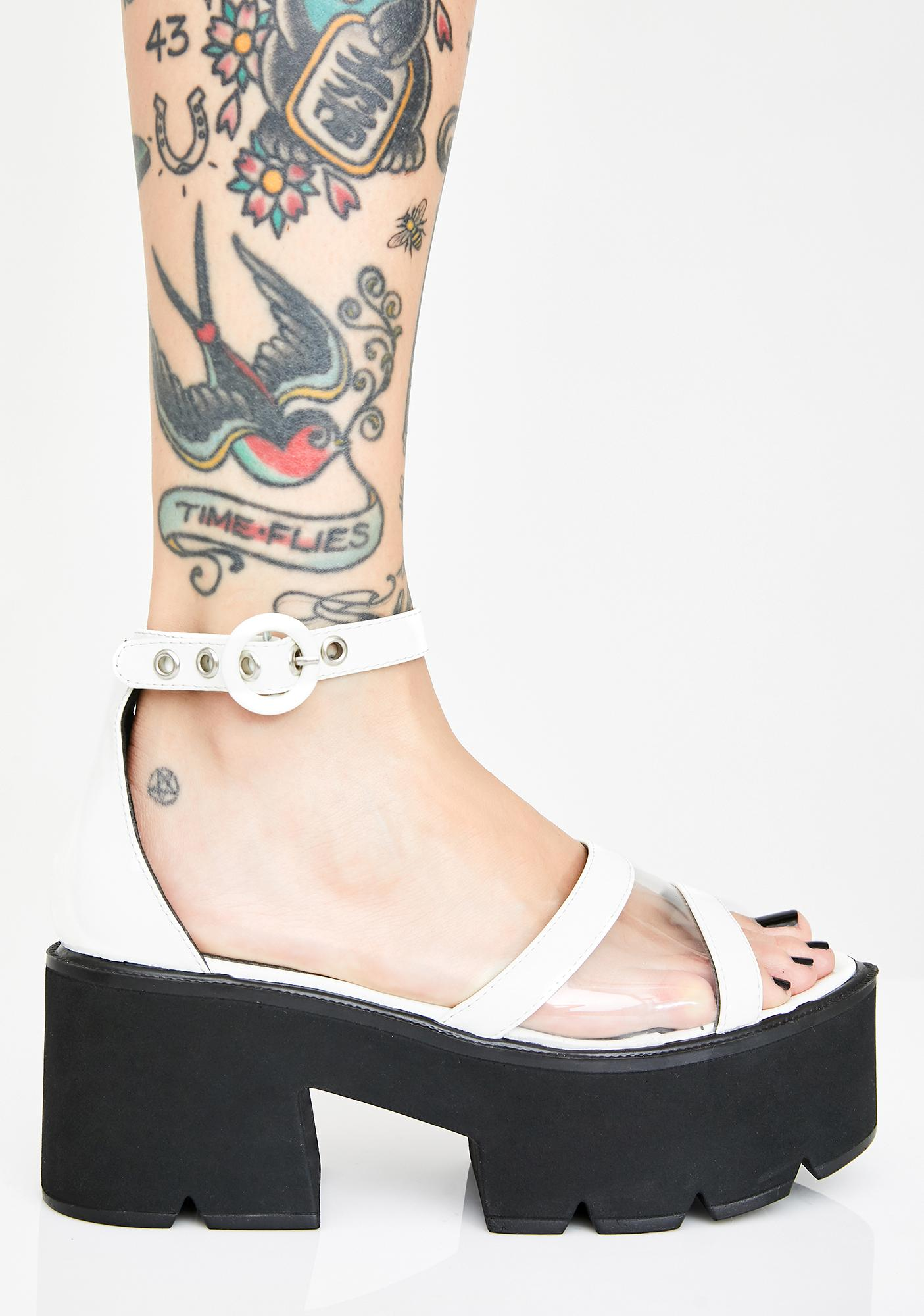 Lamoda Pure Starlight Platform Sandals