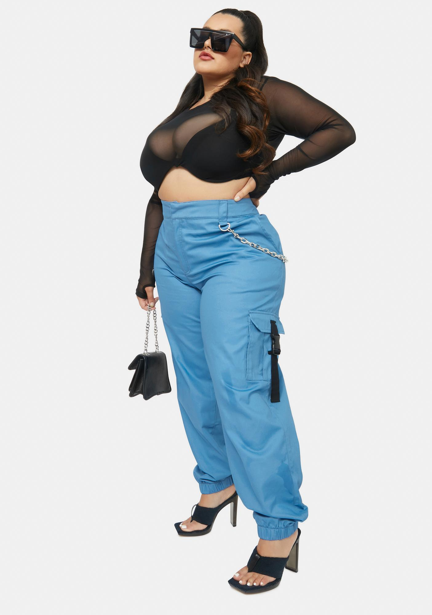 Poster Grl Real Poolside Convos Twill Chain Trousers