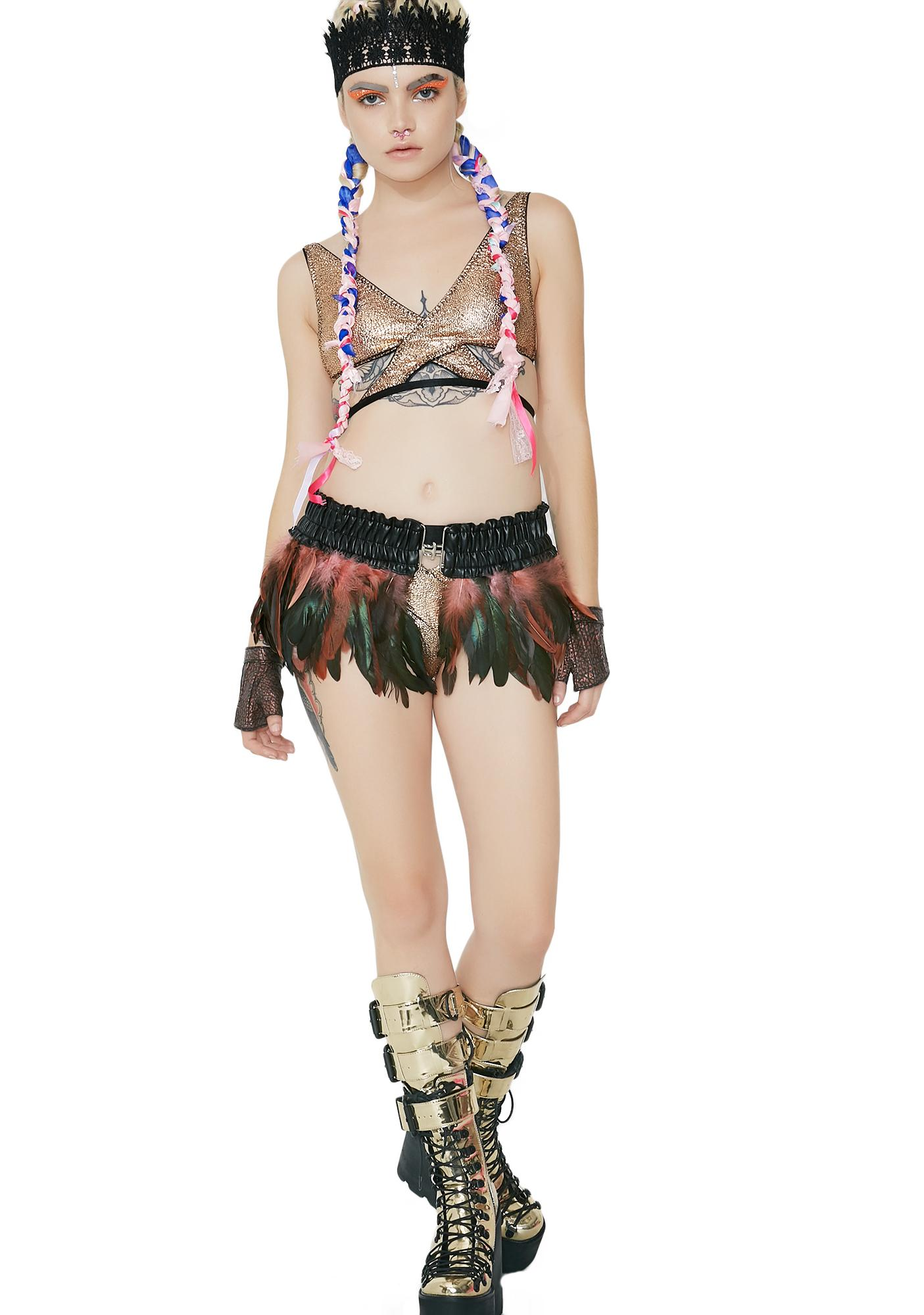 Blush Bird Of Prey Feather Skirt