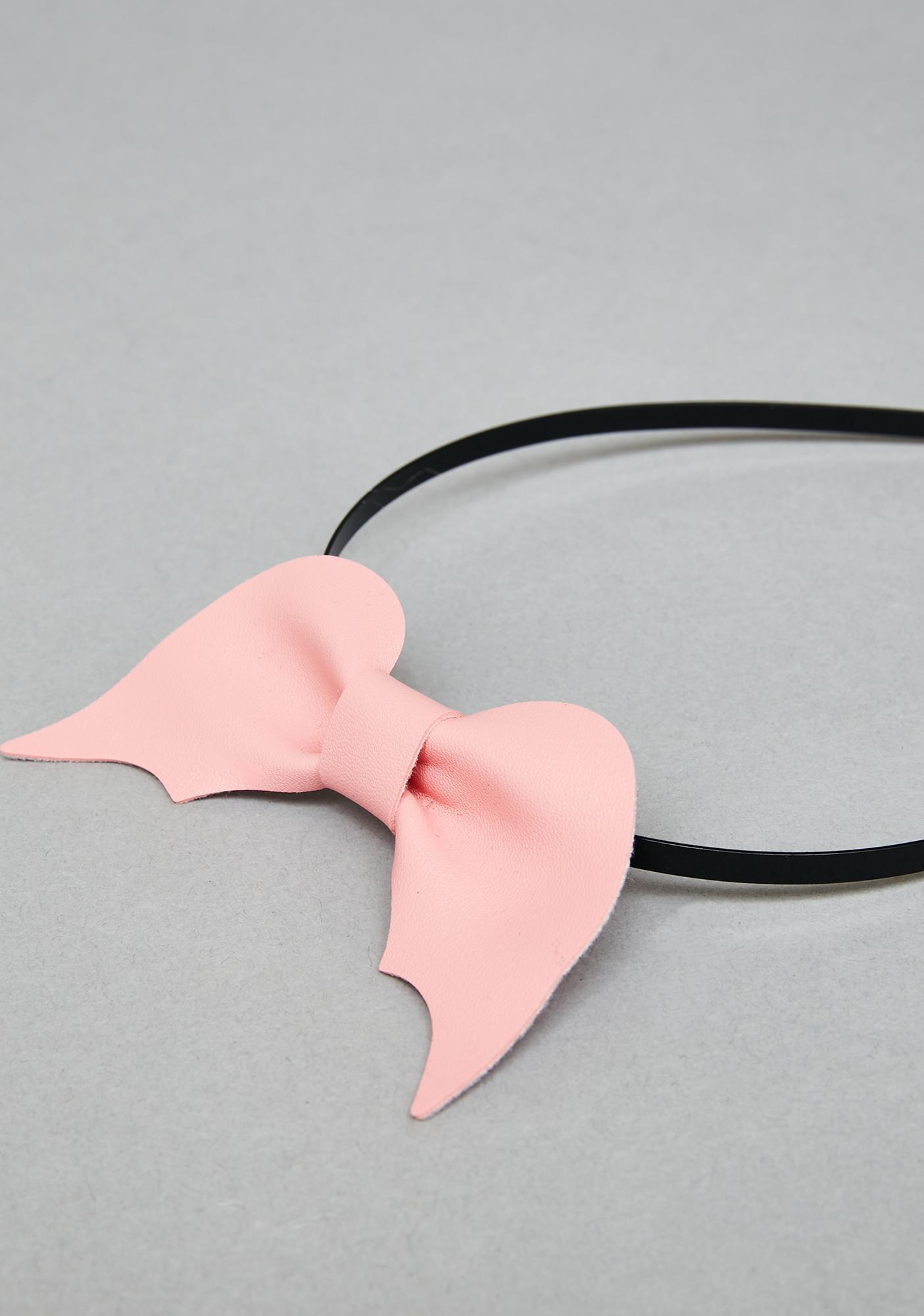 Bubblegum Hellscape Bow Headband