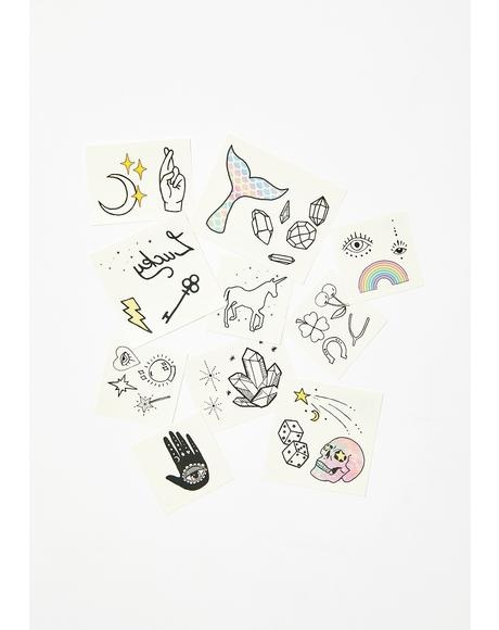 Luck N' Magic Temporary Tattoo Pack