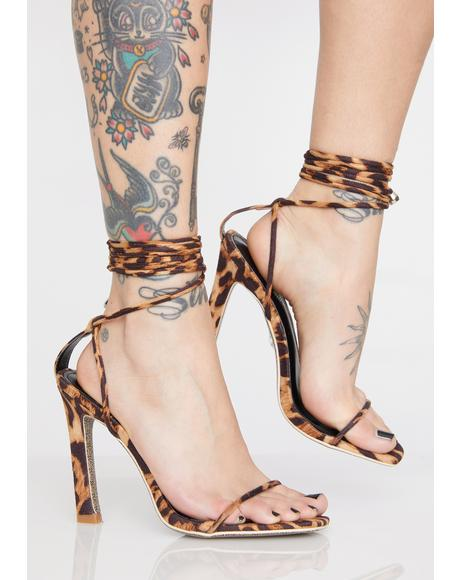 Kitty Here To Slay Wrap Heels