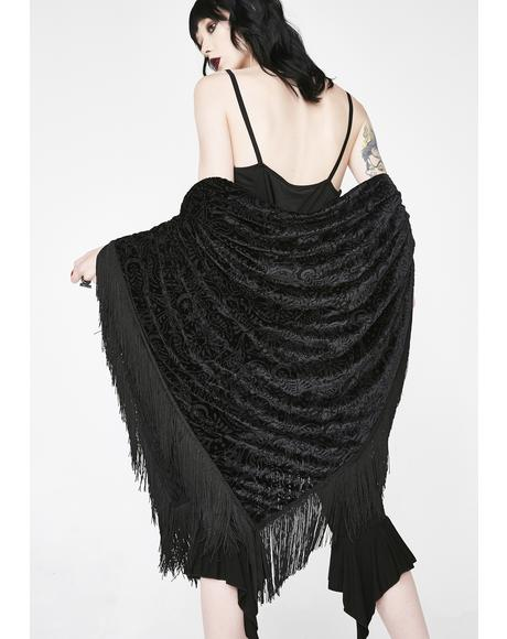 Nightfly Burnout Velvet Scarf