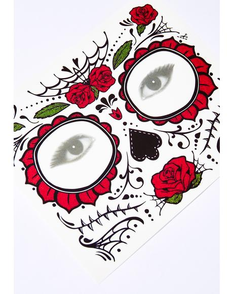Sugar Skull Rose Tattoo