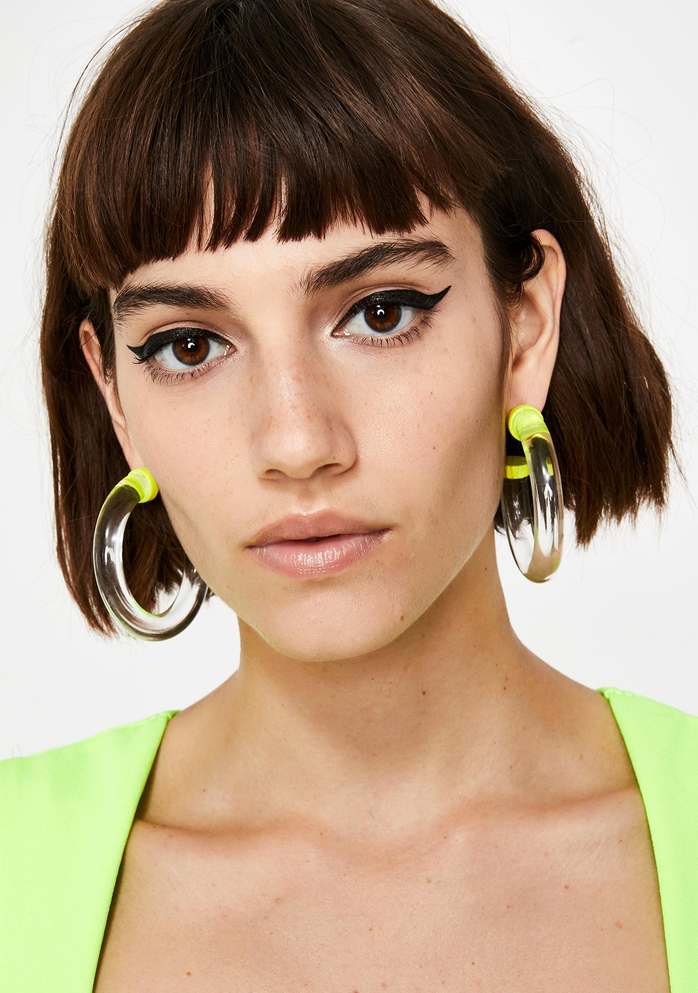 Sunny My Type Clear Hoops