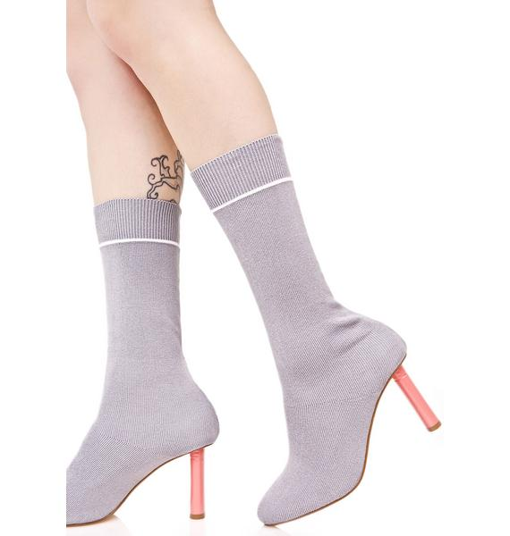 Soft Flicker Sock Boots