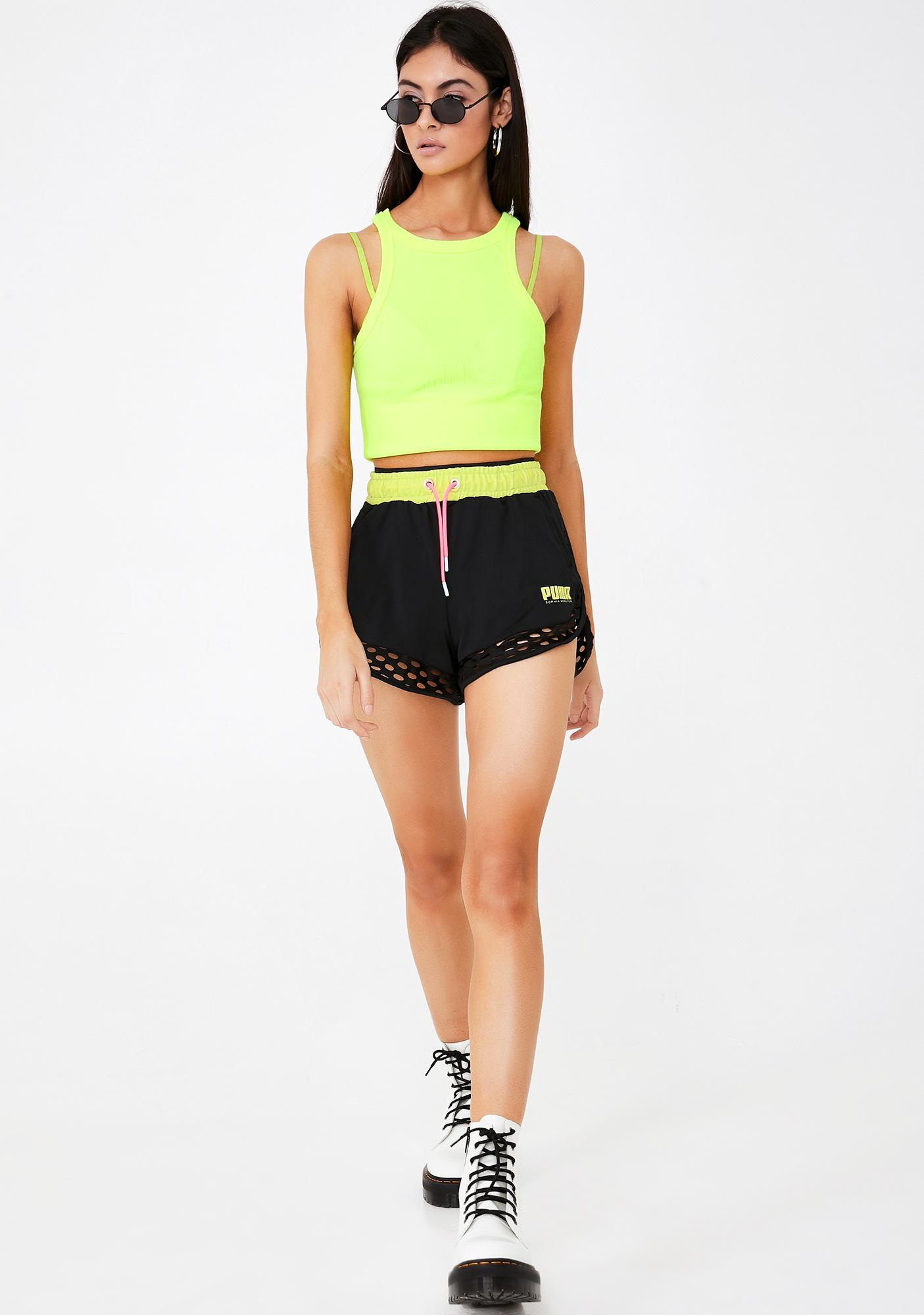 PUMA Dark X Sophia Webster Shorts