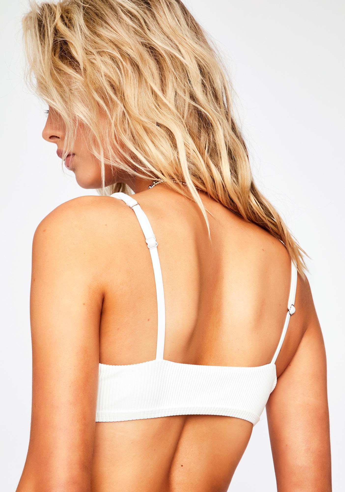 Frankies Bikinis White Austin Bikini Top