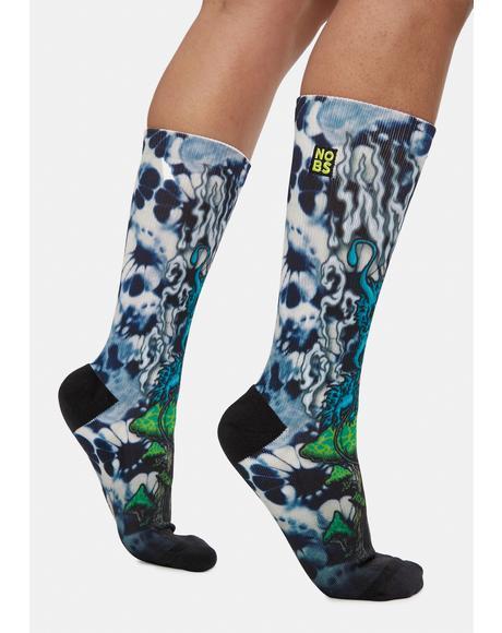Caterpillar Printed Crew Socks