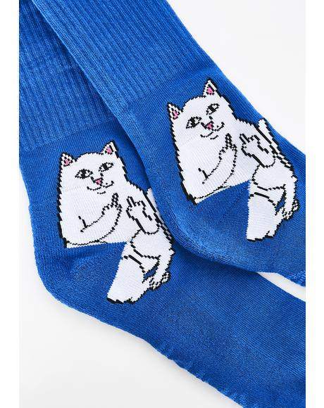 Cobalt Lord Nermal Socks