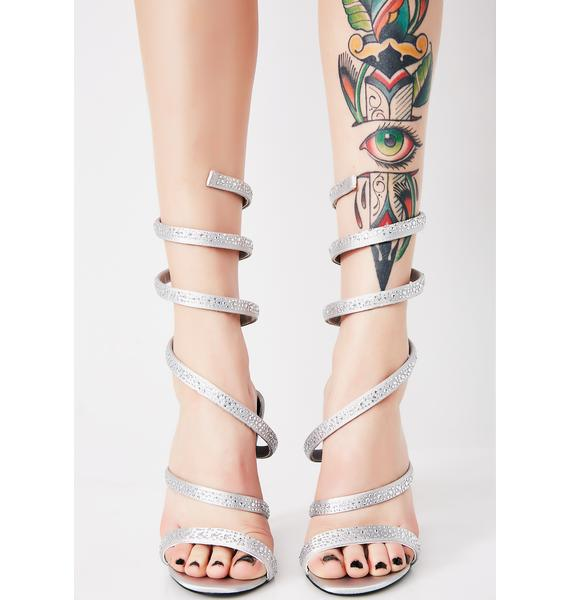 Spiral Out Of Control Sparkle Heels