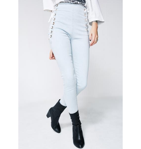 Laced Valley High Waisted Jeans