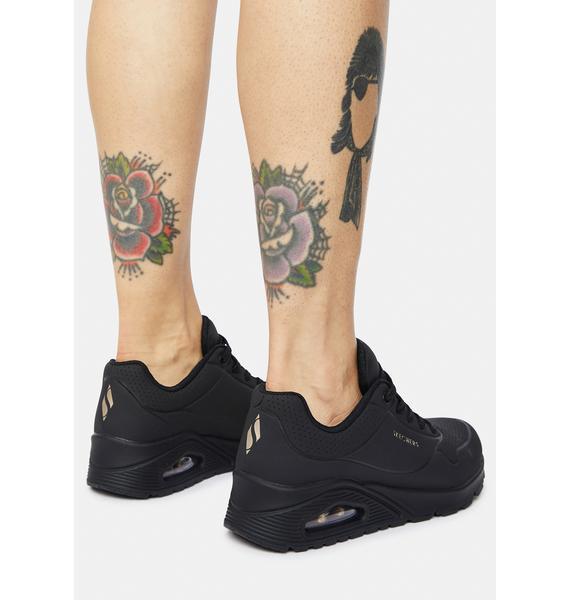 Skechers Black Stand On Air Uno Sneakers