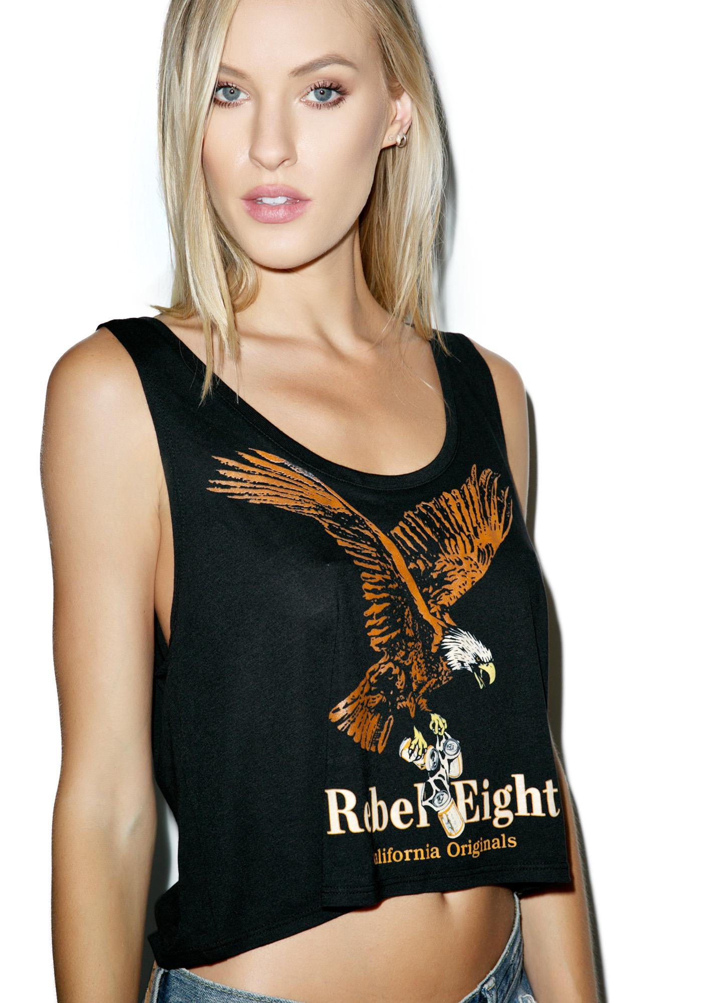 Rebel8 Women Boozer Cropped Tank