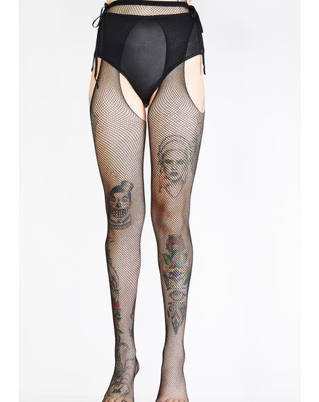 So High Suspender Tights