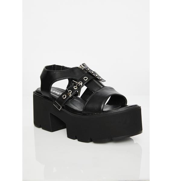Lamoda Parade Rocker Platform Sandals