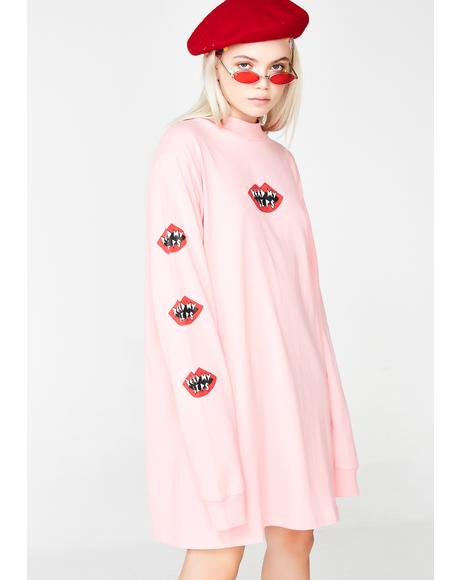 Read My Lips T-Shirt Dress