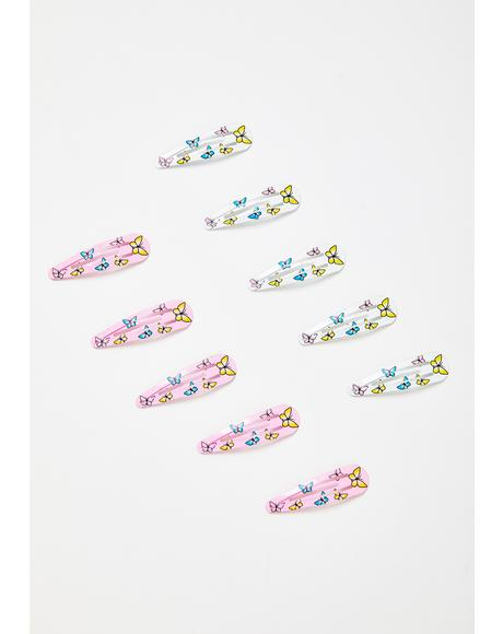 Flutter Shock Butterfly Hair Clip Set