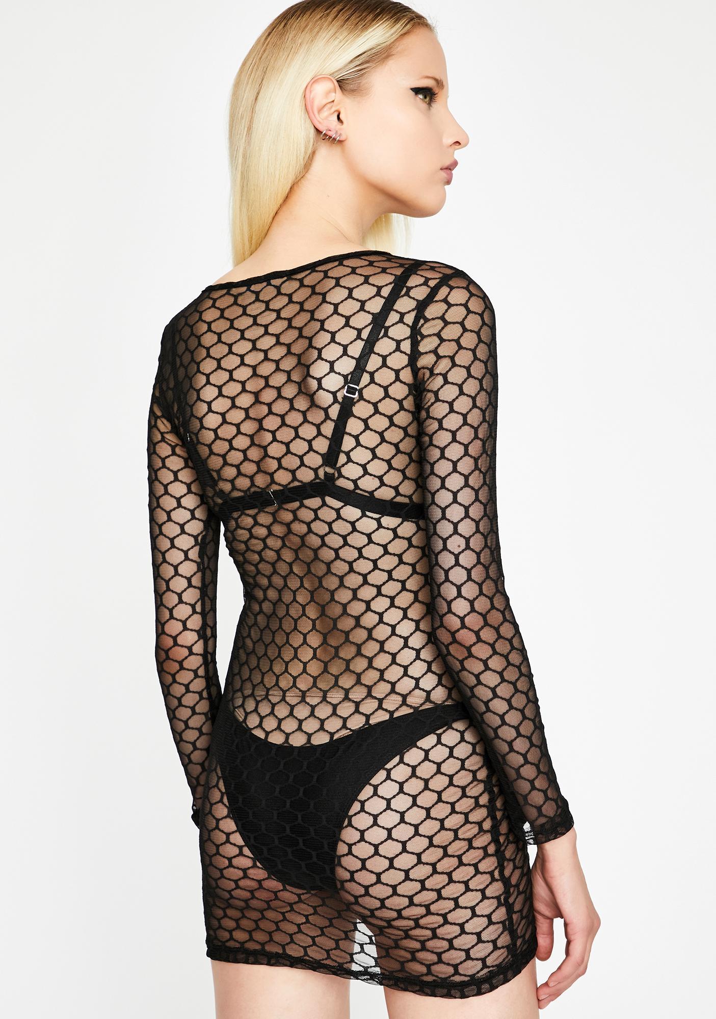 Nightlife Honey Sheer Dress