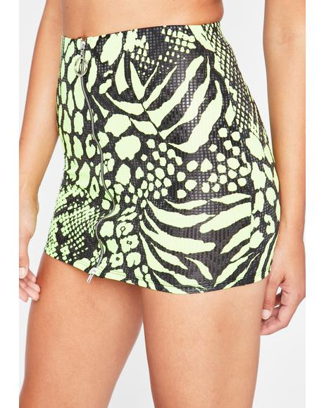 Rave Jungle Mini Skirt