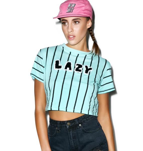 Lazy Oaf Lazy Stripe Crop Tee