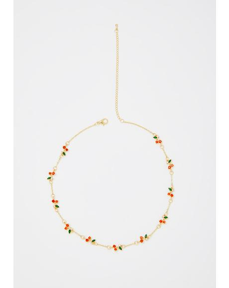 Mon Cherry Chain Necklace
