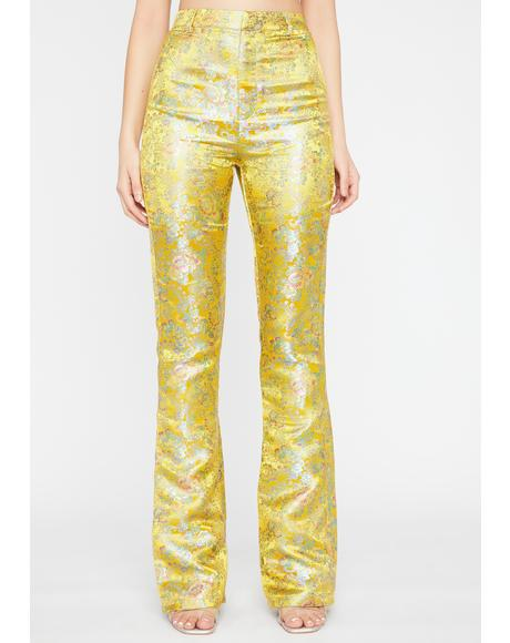 Golden Evening Shadows Brocade Pants