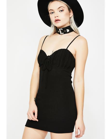 So Fed Up Mini Dress
