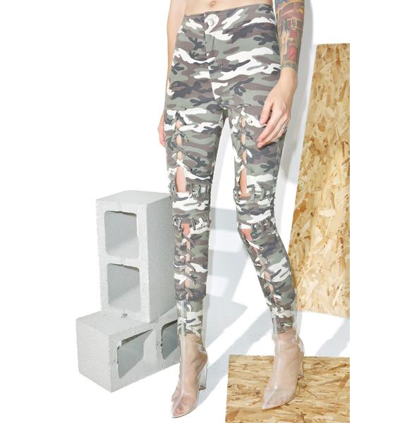 Hardware LDN Camo Laced Pants