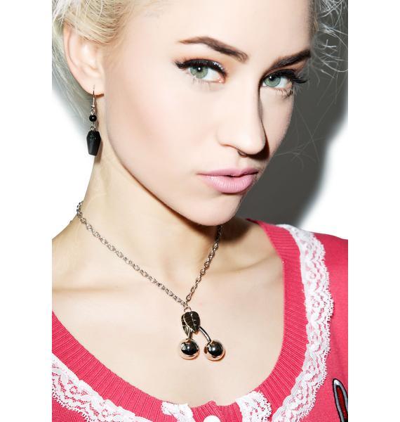 Sourpuss Clothing Cherry Charm Necklace
