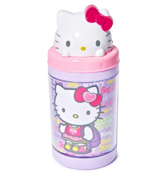 Sanrio Hello Kitty Pop-Up Straw Bottle