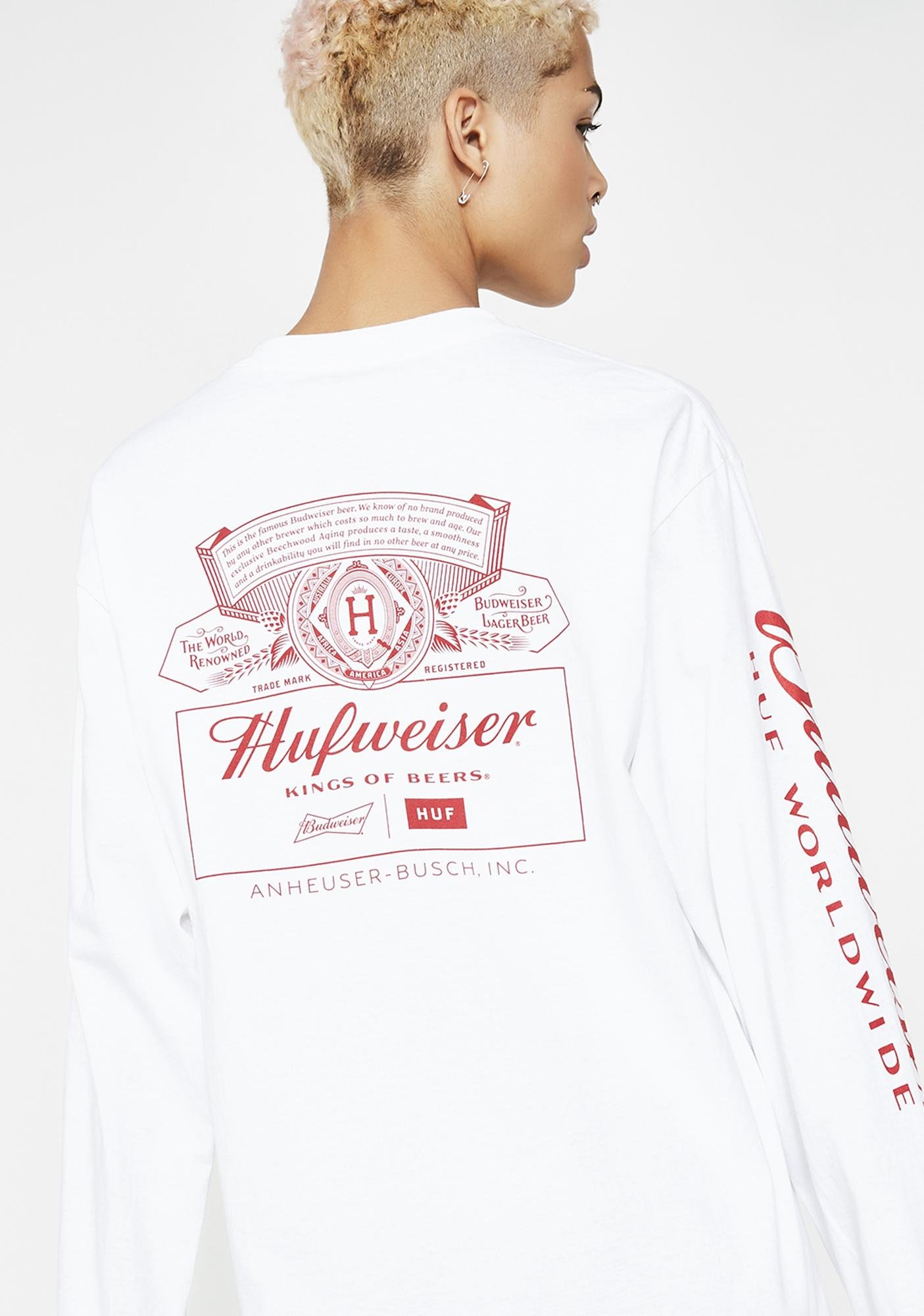 HUF x Budweiser Pit Crew Long Sleeve Tee