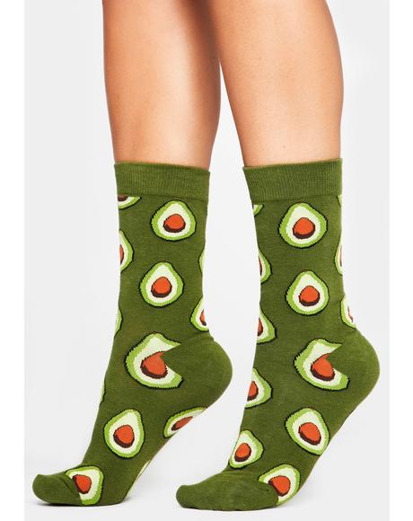 Guac N' Roll Crew Socks