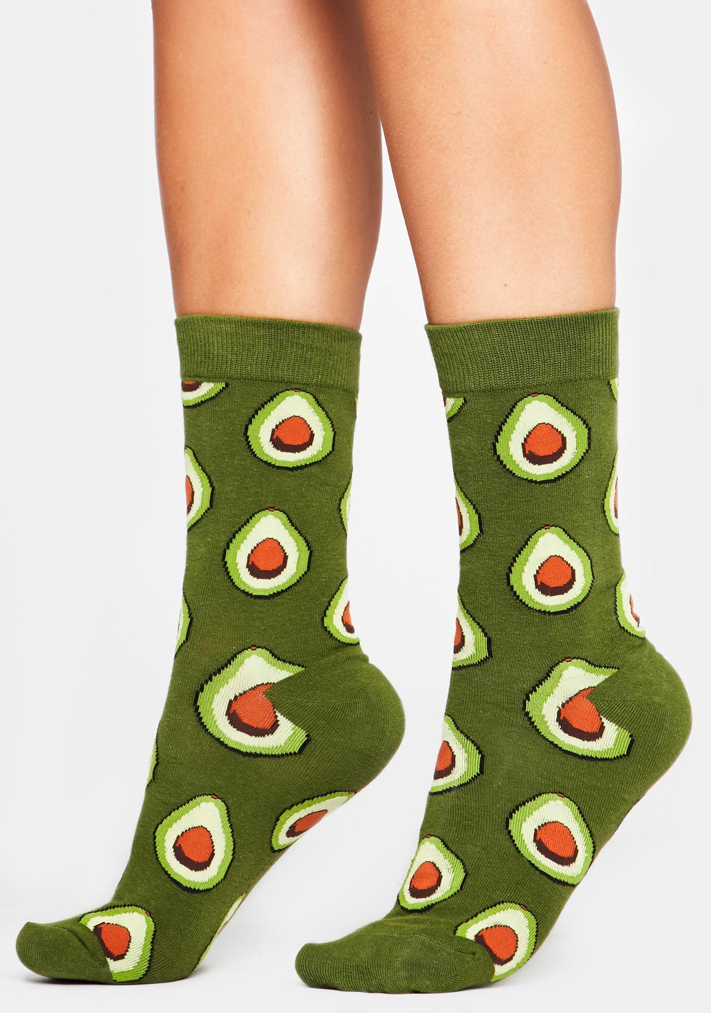 Guac N' Roll Crew Socks