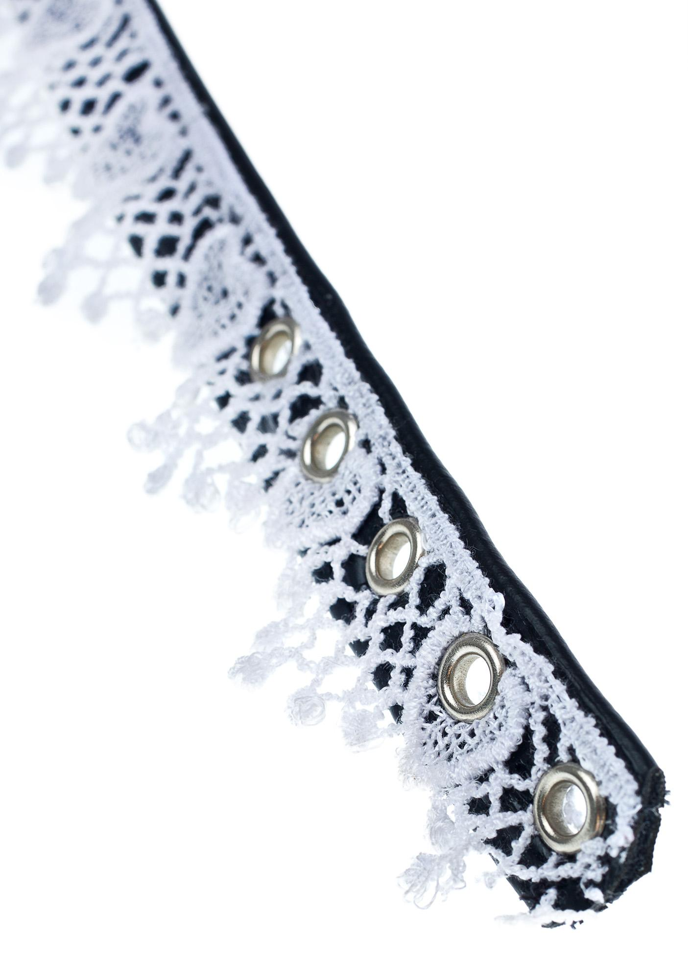 NecroLeather Secret's Out Bondage Lace Collar
