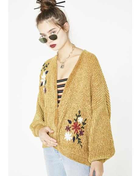 The Flower Girl Chenille Cardigan