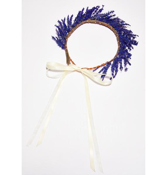 Rock n Rose Lavender Dried Flower Crown