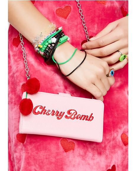Cherry Bomb Crossbody IPhone Case