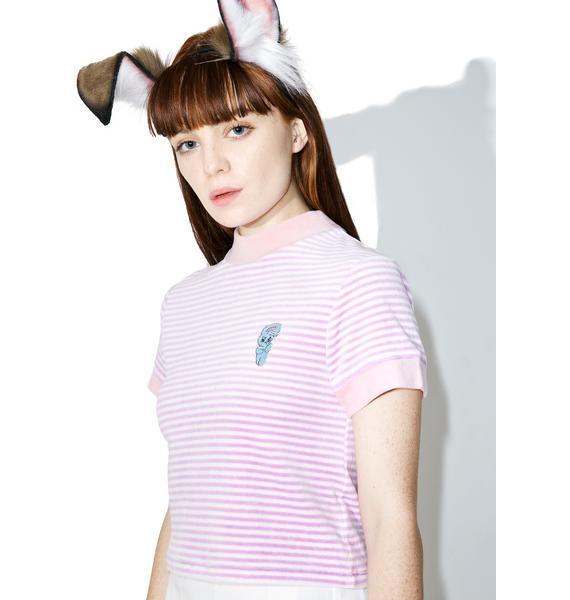 Lazy Oaf Esther Love Oaf Smoking Bunny Shirt