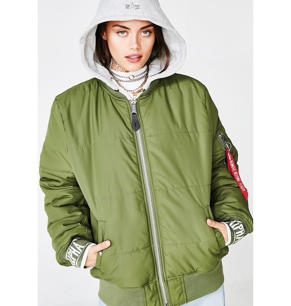 Alpha Industries MA-1 Natus Quilted Flight Jacket