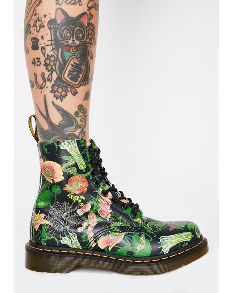 1460 Pascal Wild Botanics Combat Boots
