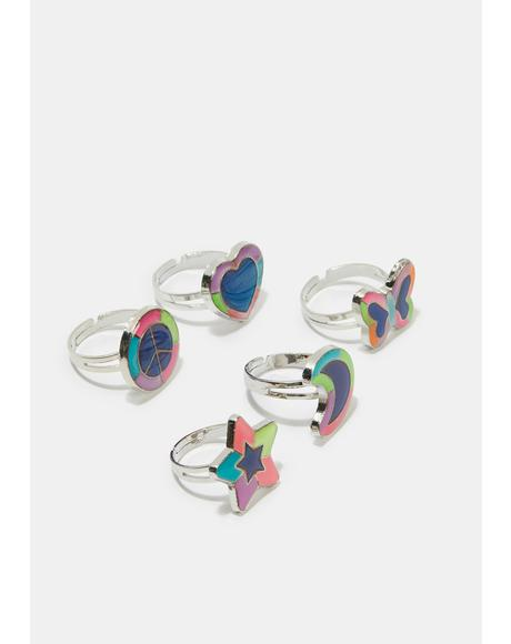 Lift Your Spirits 5 Piece Ring Set