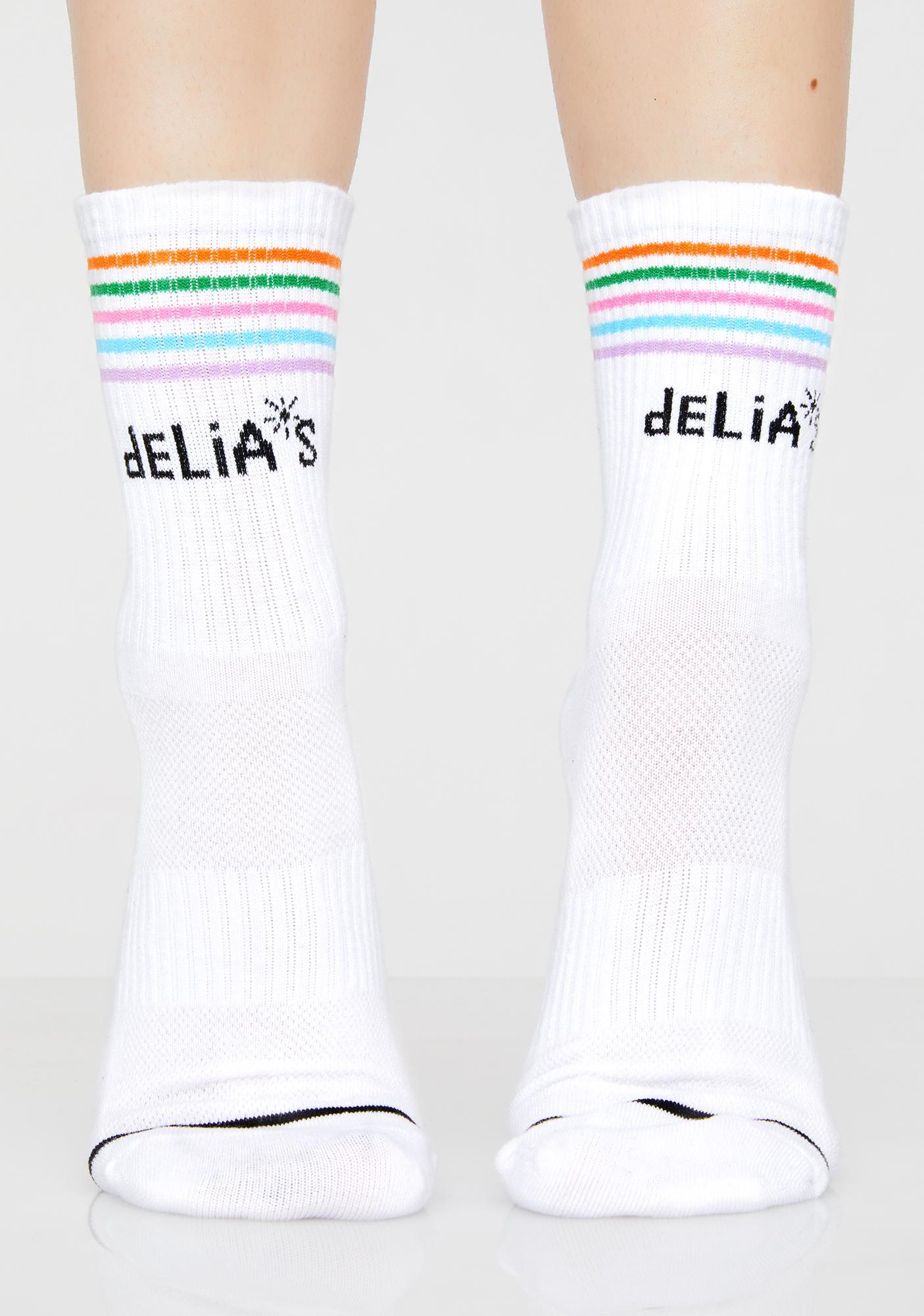 dELiA*s by Dolls Kill So-Called Life Striped Socks